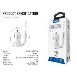 CAR CHARGER 2USB 2.4A+MICRO