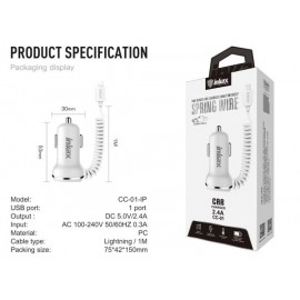 CAR CHARGER 2USB 2.4A+IP