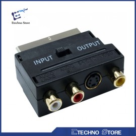 ADATTATORE SCART 3 RCA IN-OUT