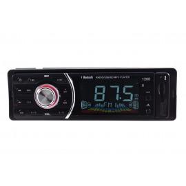 AUTORADIO STEREO AUTO BLUETOOTH FRONTA ESTRAIBILE RADIO FM MP3 SD USB AUX 1208