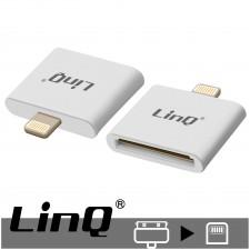 Adattatore di Ricarica e Sincronizzazione da Lightning a 30 pin, LinQ - Bianco