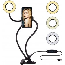 Selfie LED Ring Light con supporto per telefono cellulare per Youtube Tiktok