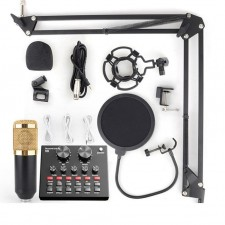 Sound Card Audio Set Interface External Usb Live Microphone